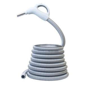 Central vacuum hose low voltage