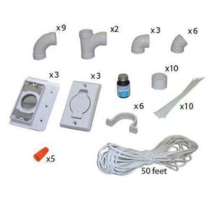Central Vacuum Installation Kit 3 Inlet